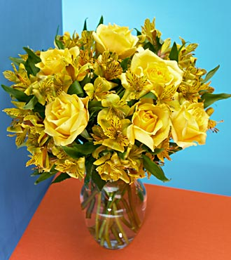 Citrus Burst Rose Bouquet FD039