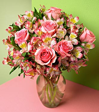 Dreamland Pink Rose Bouquet